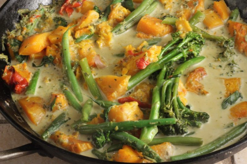 Vegetable Thai Green Curry - Healthy Mama Cooks