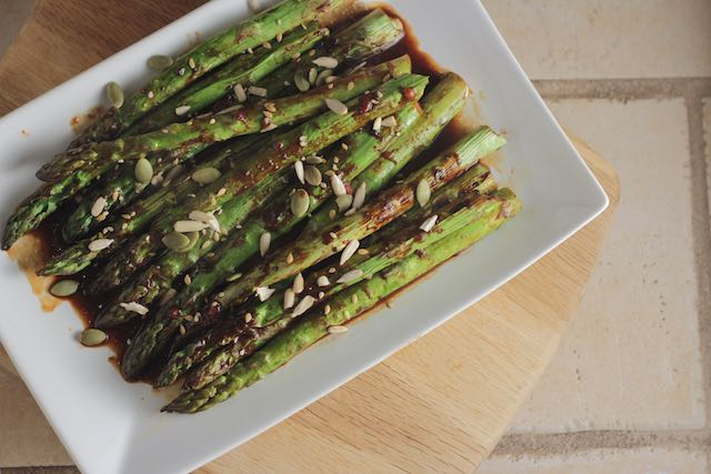 Miso-Roasted Asparagus Recipe — Dishmaps