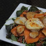 Roasted Sweet Potato Salad with Grilled Goat Cheese