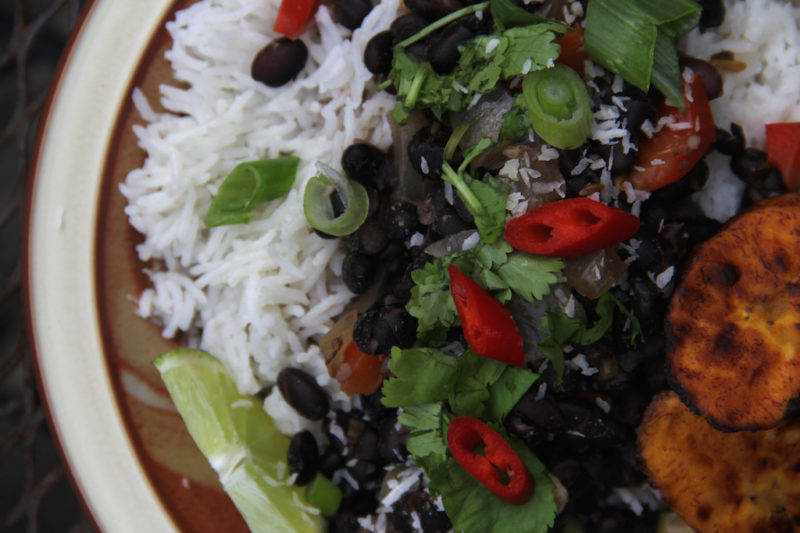 Caribbean Black Beans and Coconut Rice