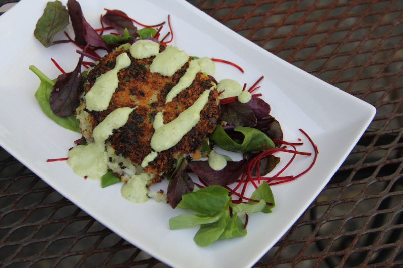 Thai fish cakes with yogurt green curry sauce healthy for Yogurt sauce for fish