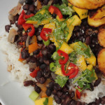 Caribbean Black Beans with Coconut Rice & Fried Plantains