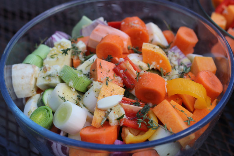 Fall Vegetables Ready for Roasting