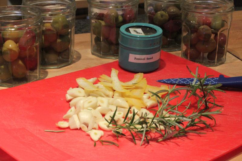 Marinated Olive Igredients