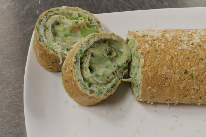 Broccoli and Cheddar Roulade