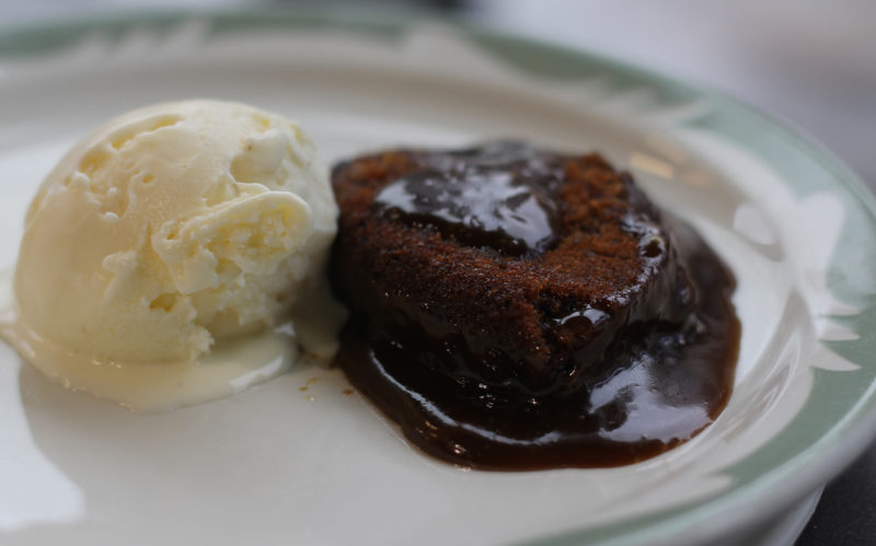 Sticky Toffee Pudding with Creme Fraiche Ice Cream