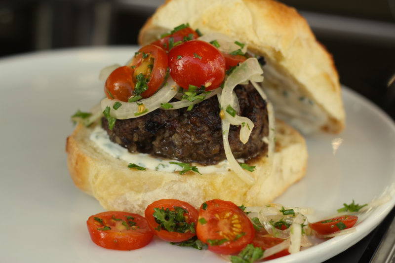 Tante Marie Burgers with Cheddar Baps