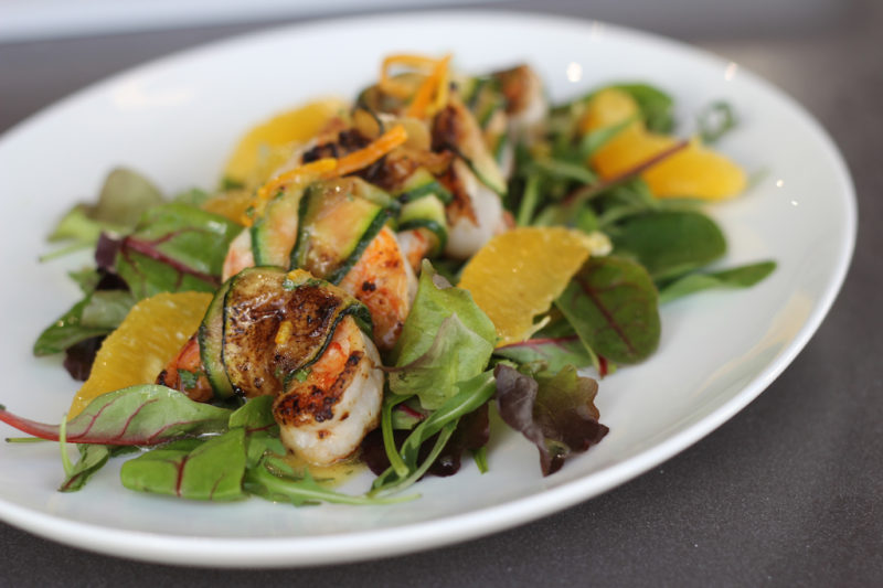 Courgette Wrapped Shrimp with Citrus Vinaigrette