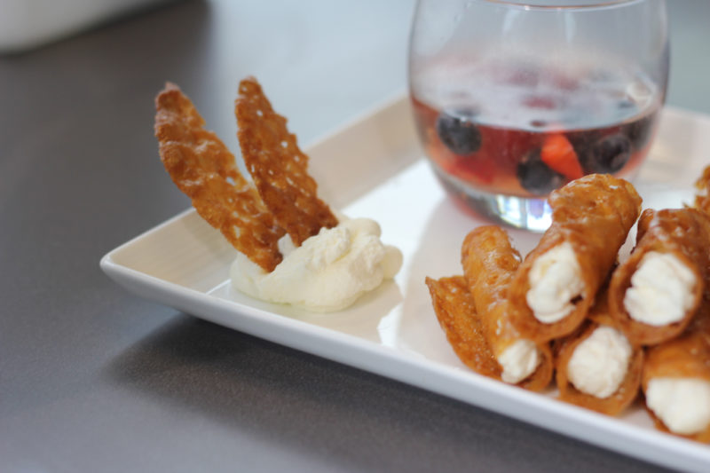 Brandy Snaps with Sparkling Jelly