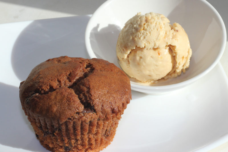 Chocolate Muffins and Caramel Ice Cream