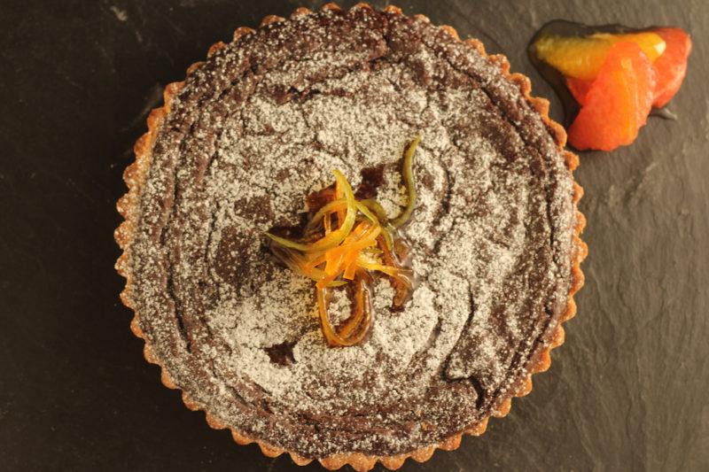 Chocolate Tart with Citrus Sauce