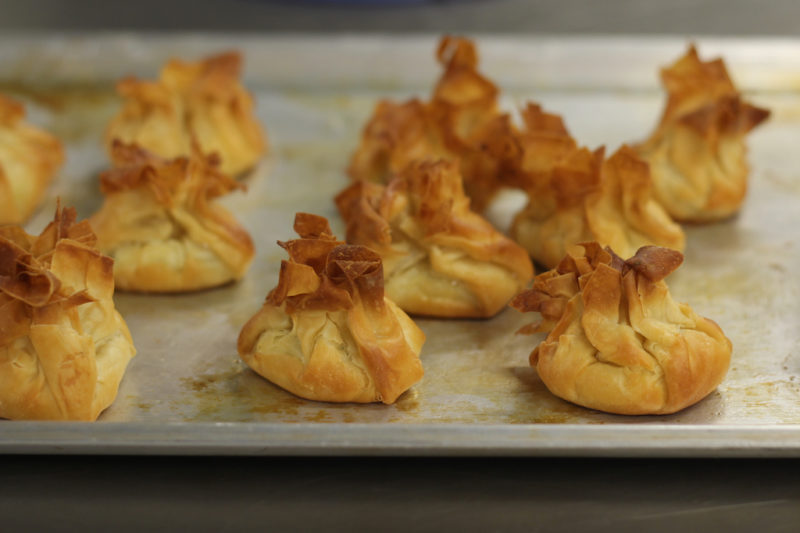 Feta filled Filo Moneypurses