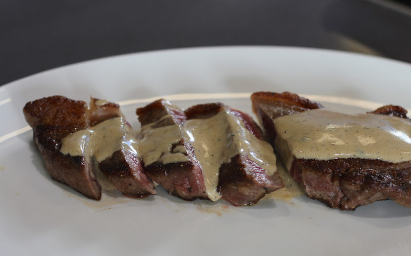 Pan Fried Steak with Brandy Cream