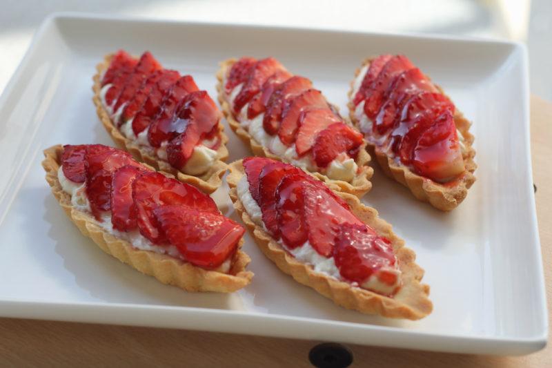 Tarteletes aux fraises au fromage