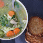 Chicken Noodle Soup with Wild Garlic Pesto