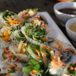 Fresh Spring Rolls with Four Dipping Sauces